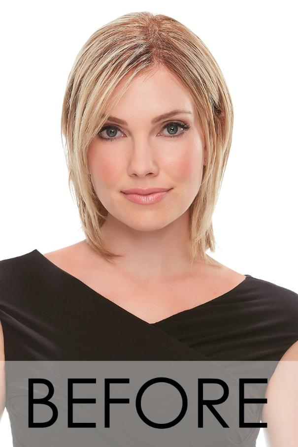 "Top Form 8"" Exclusive Remy Human Hair Topper (Double Mono Base)"