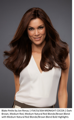 Jon Renau BLAKE PETITE in FS4/33/30A MIDNIGHT COCOA | Dark Brown, Medium Red, Medium Natural Red Blonde/Brown Blend with Medium Natural Red Blonde/Brown Blend Bold Highlights