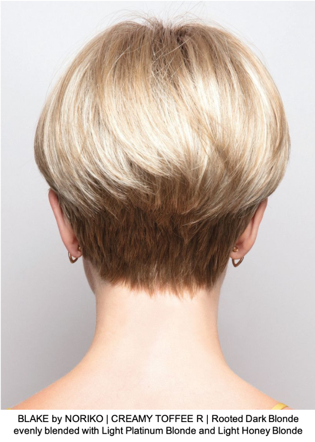 BLAKE by NORIKO | CREAMY TOFFEE R | Rooted Dark Blonde evenly blended with Light Platinum Blonde and Light Honey Blonde