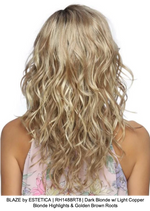 BLAZE by ESTETICA | RH1488RT8 | Dark Blonde w/ Light Copper Blonde Highlights & Golden Brown Roots