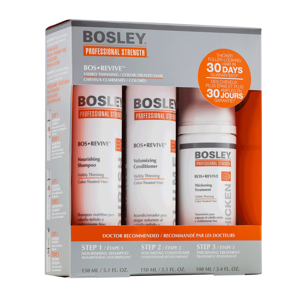 Bosley Professional BosRevive 30-Day Starter Pack for Color-Treated Hair