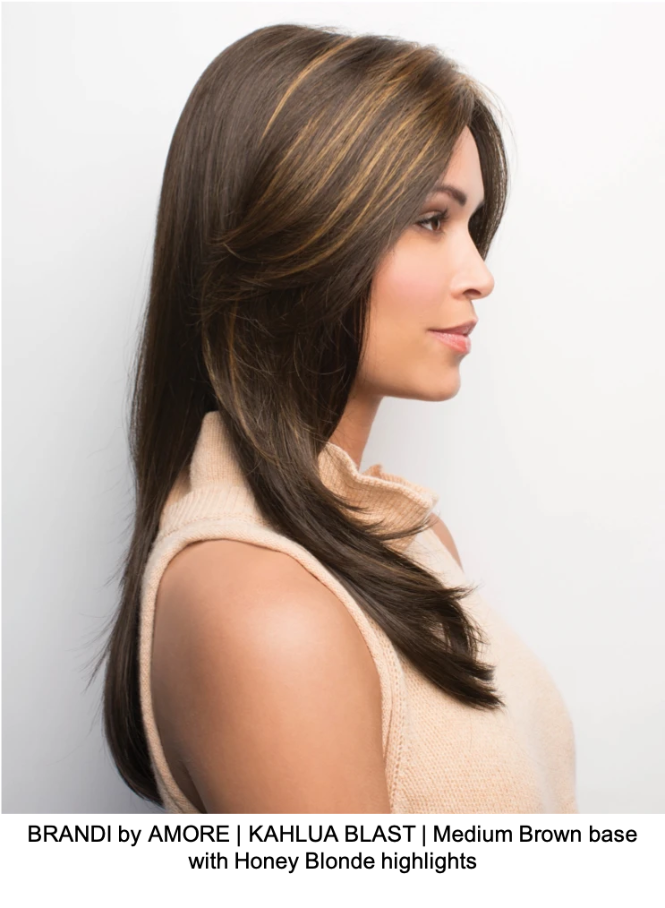 BRANDI by AMORE | KAHLUA BLAST | Medium Brown base with Honey Blonde highlights
