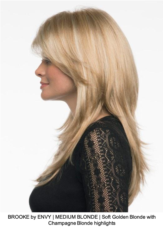 BROOKE by ENVY | MEDIUM BLONDE | Soft Golden Blonde with Champagne Blonde highlights