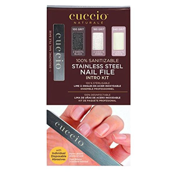 Stainless Steel Nail File Pro Pack Kit