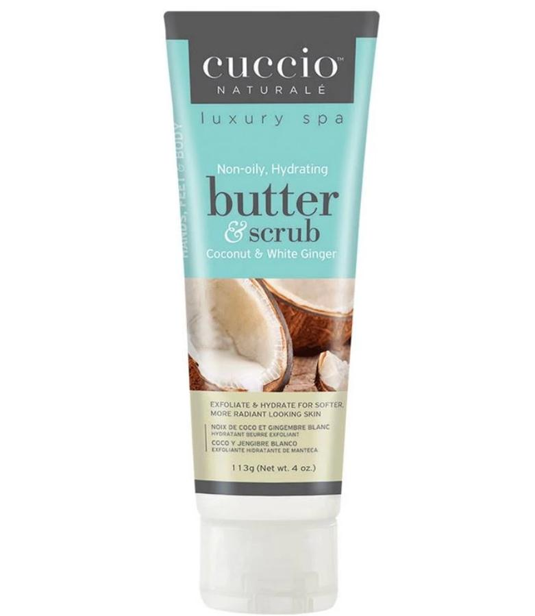 Cuccio Coconut & White Ginger Butter Scrub, 4 oz.
