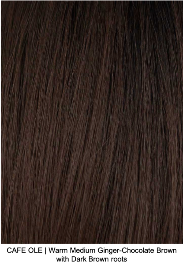 CAFE OLE | Warm Medium Ginger-Chocolate Brown with Dark Brown roots