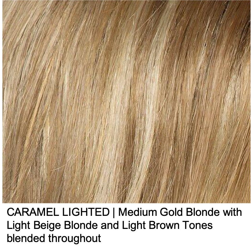 CARAMEL LIGHTED | Medium Gold Blonde with Light Beige Blonde and Light Brown Tones blended throughout