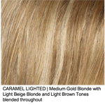 CARAMEL LIGHTED | Medium Golden Blonde with Light Beige Blonde and Light Brown Tones blended throughout