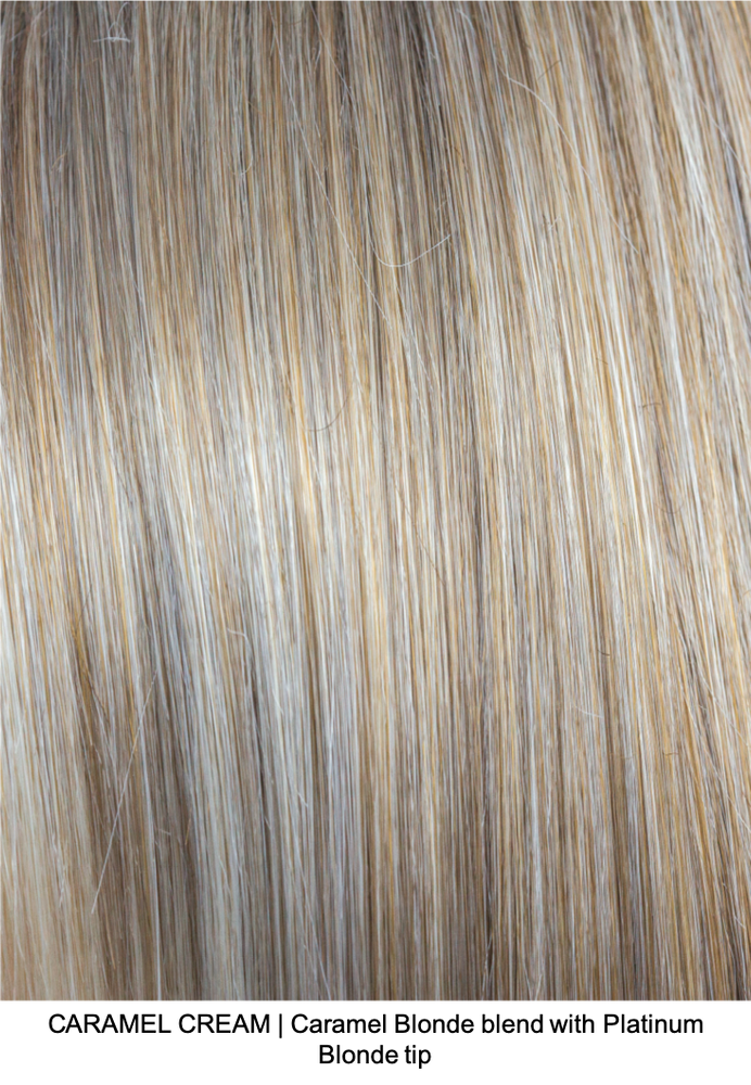 CARAMEL CREAM | Caramel Blonde blend with Platinum Blonde tip