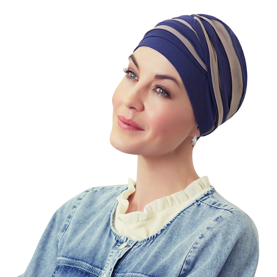 Shanti Turban, Night Blue / Dark Sand