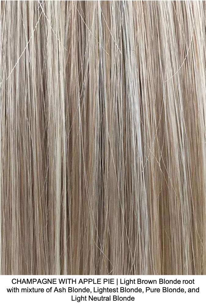 CHAMPAGNE WITH APPLE PIE | Light Brown Blonde root with mixture of Ash Blonde, Lightest Blonde, Pure Blonde, and Light Neutral Blonde