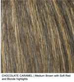 CHOCOLATE CARAMEL | Medium Brown with Soft Red and Blonde highlights