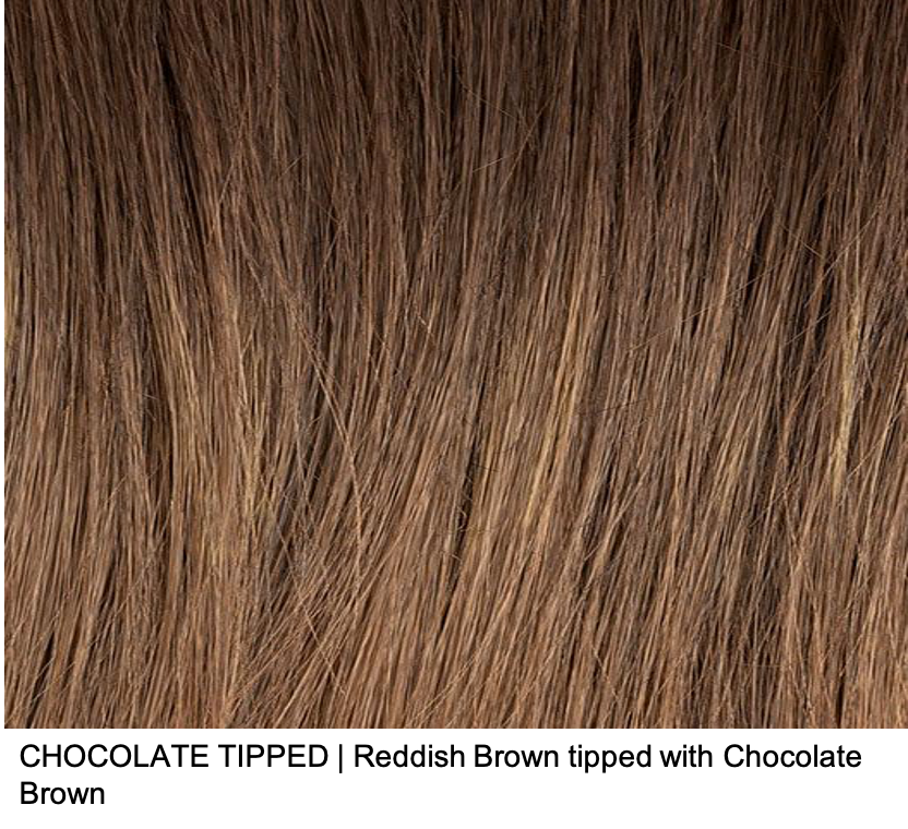 CHOCOLATE TIPPED | Reddish Brown tipped with Chocolate Brown