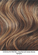 CHOCOLATE PRETZEL | Pale Red with Golden Blonde highlights