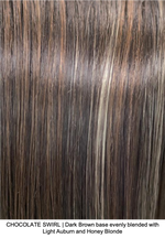 CHOCOLATE SWIRL | Dark Brown base evenly blended with Light Auburn and Honey Blonde