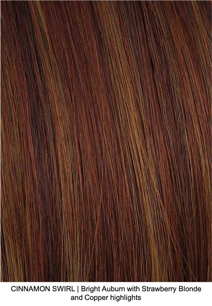 CINNAMON SWIRL | Bright Auburn with Strawberry Blonde and Copper highlights