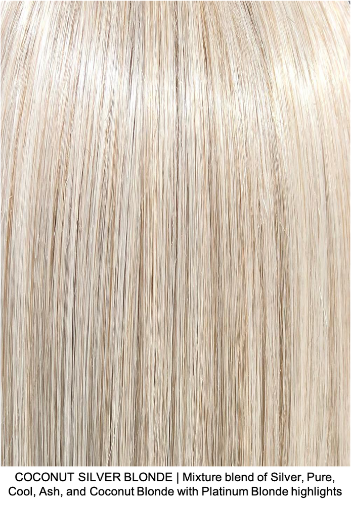 COCONUT SILVER BLONDE | Mixture blend of Silver, Pure, Cool, Ash, and Coconut Blonde with Platinum Blonde highlights