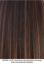 COFFEE LATTE | Dark Brown with Dark Brown and Honey Brown evenly blended highlights