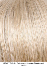 CREAMY BLOND | Platinum and Light Gold Blonde evenly blended