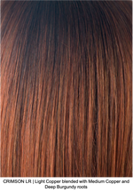 CRIMSON LR | Light Copper blended with Medium Copper and Deep Burgundy roots