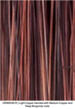 CRIMSON R | Light Copper blended with Medium Copper and Deep Burgundy roots