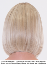CEREMONY by BELLE TRESS | BUTTERBEER BLONDE | Medium Brown root with blend of Sandy Blonde, Ash Blonde, and Light Blonde