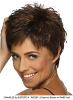 CHARLEE by ESTETICA | R6/28F | Chestnut Brown w/ Red Frost