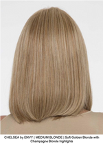 CHELSEA by ENVY | MEDIUM BLONDE | Soft Golden Blonde with Champagne Blonde highlights