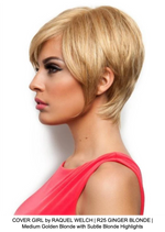 COVER GIRL by RAQUEL WELCH | R25 GINGER BLONDE | Medium Golden Blonde with Subtle Blonde Highlights
