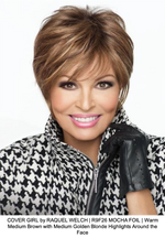 COVER GIRL by RAQUEL WELCH | R9F26 MOCHA FOIL | Warm Medium Brown with Medium Golden Blonde Highlights Around the Face