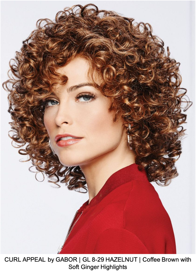 CURL APPEAL by GABOR | GL 8-29 HAZELNUT | Coffee Brown with Soft Ginger Highlights