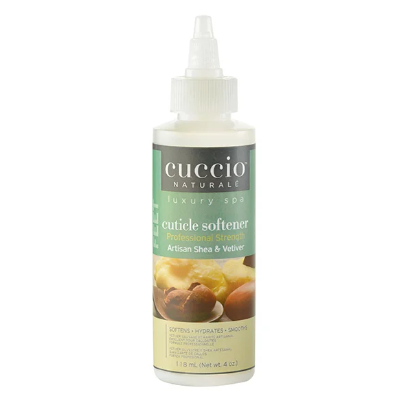 Professional Strength!! Cuccio Naturale Luxury Spa Collection- Artisan Shea & Vetiver Cuticle Softner 4 fl oz