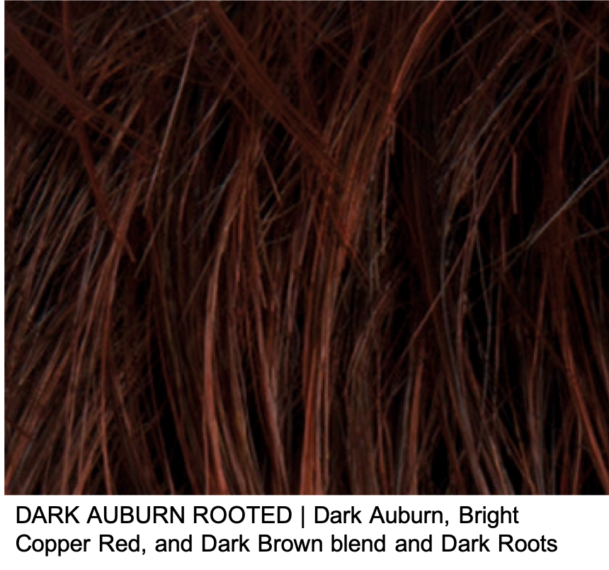 DARK AUBURN ROOTED | Dark Auburn, Bright Copper Red, and Dark Brown blend and Dark Roots
