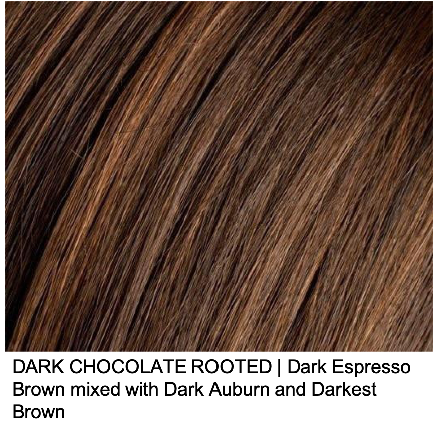 DARK CHOCOLATE ROOTED | Dark Espresso Brown mixed with Dark Auburn and Darkest Brown