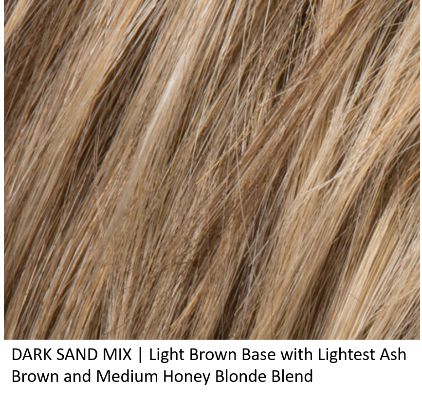 DARK SAND MIX | Light Brown Base with Lightest Ash Brown and Medium Honey Blonde Blend and Dark Roots