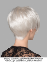 DISC by ELLEN WILLE | PLATIN BLONDE MIX | Pearl Platinum, Light Golden Blonde, and Pure White blend