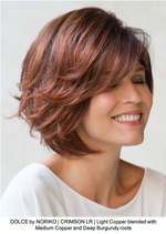 DOLCE by NORIKO | CRIMSON LR | Light Copper blended with Medium Copper and Deep Burgundy roots