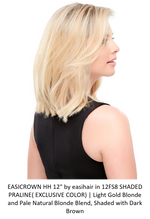 "easiCrown HH 12"" Remy Human Hair Topper (Hand Tied)"