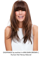 easiFringe HH Remy Human Hair Exclusive Clip-In Bang (Mono Base)