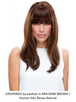 easiFringe HH Remy Human Hair Clip-In Bang (Mono Base)