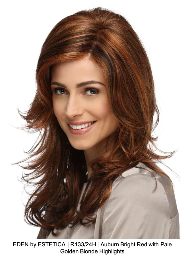 EDEN by ESTETICA | R133/24H | Auburn Bright Red with Pale Golden Blonde Highlights