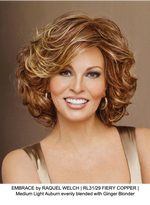 EMBRACE by RAQUEL WELCH | RL31/29 FIERY COPPER | Medium Light Auburn evenly blended with Ginger Blonder