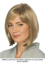 EMMA by ESTETICA | R12/26CH | Light Brown w/ chunky Golden Blonde Highlights