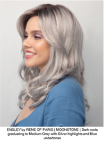 ENSLEY by RENE OF PARIS | MOONSTONE | Dark roots graduating to Medium Gray with Silver highlights and Blue undertones