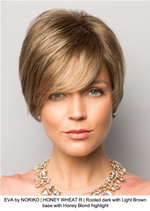 EVA by NORIKO | HONEY WHEAT R | Rooted dark with Light Brown base with Honey Blond highlight