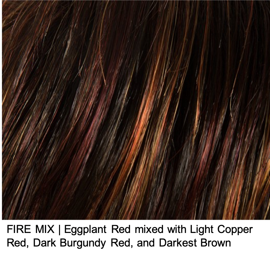 FIRE MIX | Eggplant Red mixed with Light Copper Red, Dark Burgundy Red, and Darkest Brown