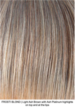 FROSTI BLONDE | Light Ash Brown with Ash Platinum highlights on top and at the tips
