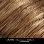 FS12/24B CINNAMON SYRUP | Golden Brown w/ Honey Blonde Highlights