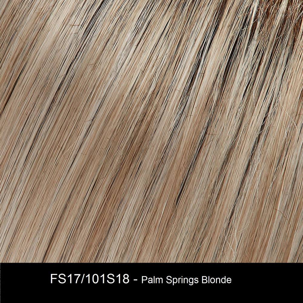 FS17/101S18 PALM SPRINGS BLONDE | Lt Ash Blonde w/ Pure White Natural Violet, Shaded w/ Dk Natural Ash Blonde