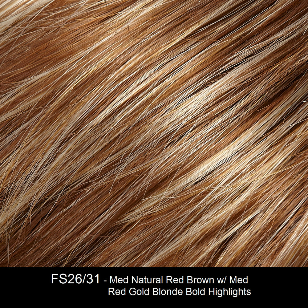 FS26/31 - Med Natural Red Brown w/ Med Red Gold Blonde Bold Highlights